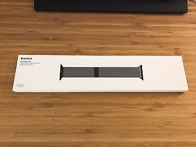 Brand New Apple Watch Space Black Milanese Loop Stainless Steel 38mm MLJH2AM/A