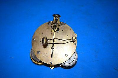 antique Germany  clock movement on a gong