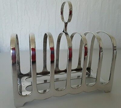 Edwardian Silver Plated Toast Rack - James Dixon & Sons, Sheffield