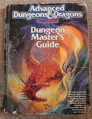 ADVANCED DUNGEONS & DRAGONS 2nd Edition MASTER'S GUIDE BOOK 1989 Vintage TSR