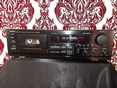Denon DRM-650S HiFi Separate Stereo Cassette Tape Deck Stylish Black VGC Working