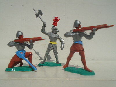 Vintage Plastic Lone Star Swoppet Knights Rare