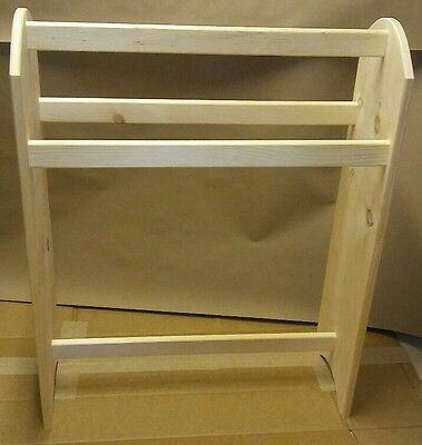 Standing quilt rack HOLDER HANGER ROOM DIVIDER SPACE SAVER UNFINISHED PINE USA