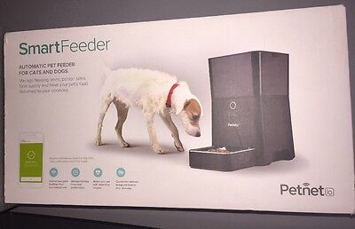 Petnet SmartFeeder Automatic Pet Feeding For Cats And Dogs Nrand New! Black