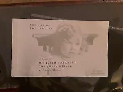 2000 Queen Mother, The Life of the Century Prestige Book - Stamp Booklet SG DX25