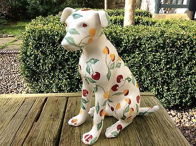EMMA BRIDGEWATER . Dido Crosby Dog . Summer Cherries . Terrier . Statue