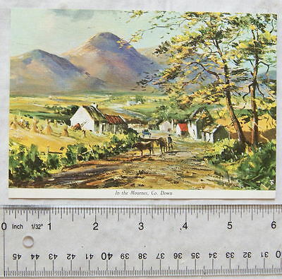 old postcard In The Mournes, Co. Down