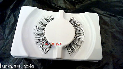 1 PAIO DI CIGLIA FINTE LUNGHE nere, 12 MM (FALSE EYELASHES) B103