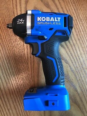 "NEW! Kobalt 24-Volt 3/8"" Drive Brushless Motor Cordless Impact Wrench Bare Tool"