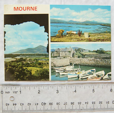old postcard Mourne, Co. Down, N.I. multi-view