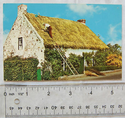 old postcard Thatched cottage, Northern Ireland