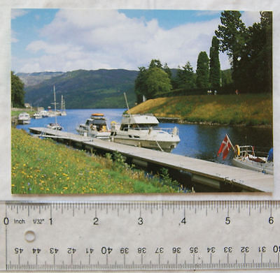 old postcard The Caledonian Canal & Loch Ness, Fort Augustus
