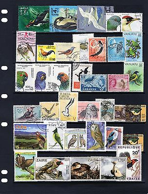 BIRDs,fine collection of Bird stamps , mainly Fine Used