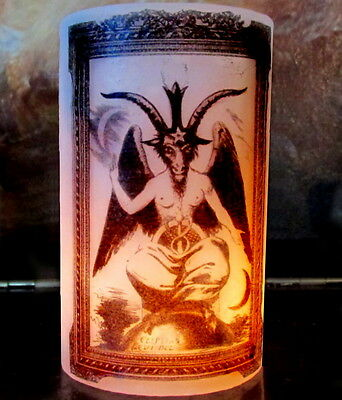 """BAPHOMET Wax Luminary Candle Cover Metaphysical Occult Magick Witch 5"""""""
