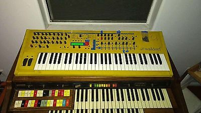 vintage Waldorf Q yellow synth synthesizer keyboard