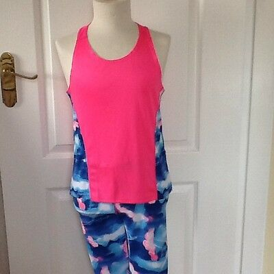 girls sports top and leggings age 10/11