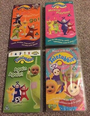 Teletubbies Lot Of 4 VHS Videos Rare Titles BBC CBeebies