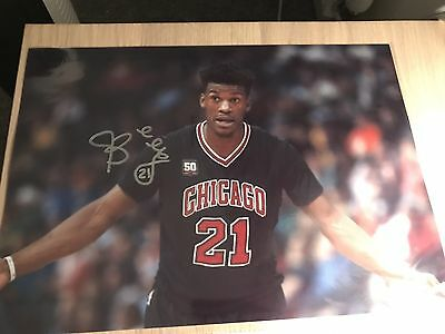 Genuine 12x8 Signed Chicago Bulls Jimmy Butler Photo With COA