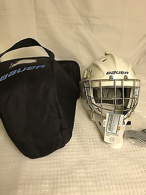 Bauer 960XPM Goalie Mask senior Sr. White Hockey SIZE: S/M New And Certified.