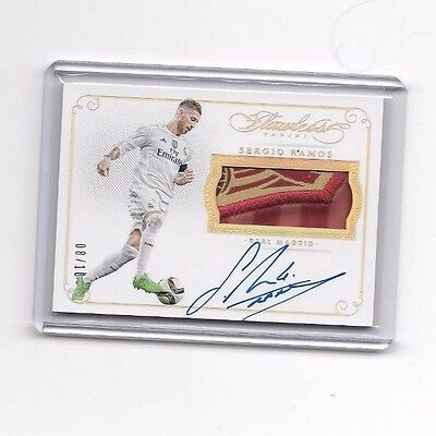 2016 Panini Flawless Soccer Sergio Ramos Patch Autograph Real Madrid 8/10