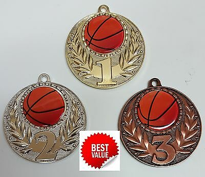 1 x 50mm BASKETBALL MEDAL,TROPHY,AWARD  ,Free engraving,Free ribbons
