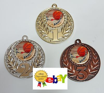 1 x 50mm BASKETBALL MEDAL,TROPHY,AWARD WITH Free engraving,Free ribbons
