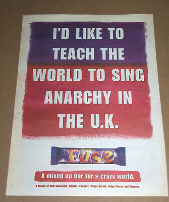 Fuse - Anarchy In The Uk - 1997 Vintage Original Advert Poster Nme
