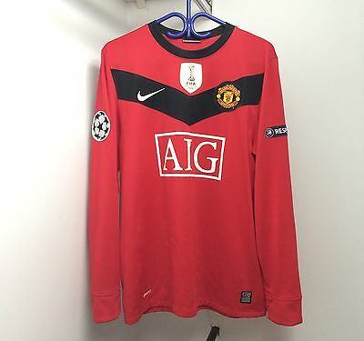 Nike Manchester United 2009/10 Home Jersey Medium Long Sleeve UCL Wayne Rooney
