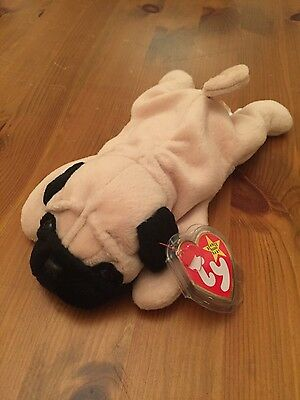 Ty Beanie Babies Pugsly the Pug soft toy new with tags