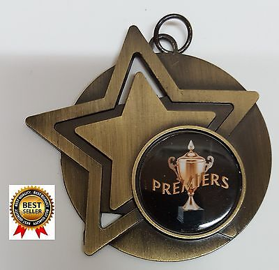 1 x 50mm PREMIERS BASKETBALL MEDAL,TROPHY,WITH Free ribbons