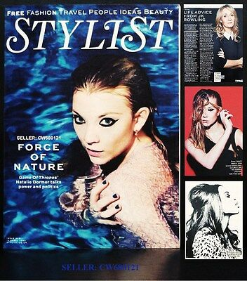 Natalie Dormer Game Of Thrones David Cameron Jk Rowling Stylist Magazine 2015