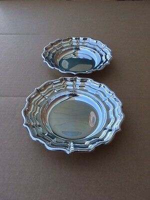 Pair Of Vintage Birks Sterling Silver Candy Dishes Or Nut Dishes 233 Grams