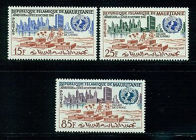 MAURITANIA, SC 167-169, 1962 UN Admission issue, complete set of 3 MLH.