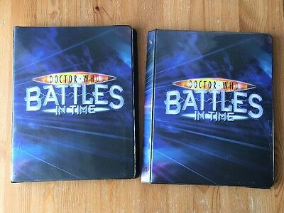 Doctor Who: Battles In Time - Pair of Trading Card Folders with Approx.500 Cards