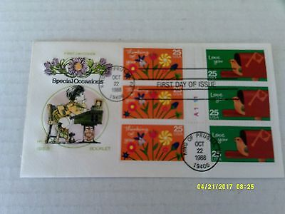 FDC House of Farnam #2397-98a Thinking of You & Love You bklt pane of 6
