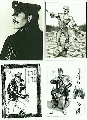 Tom of Finland Finnish 1st-Class Stamps sheet of 3 + 3 postcards, gay interest