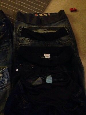 Maternity Clothes Lot Jeans And Shirts (no Skirts)