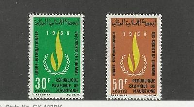 MAURITANIA, SC 244-245, 1968 Human Rights issue issue. MOGH.