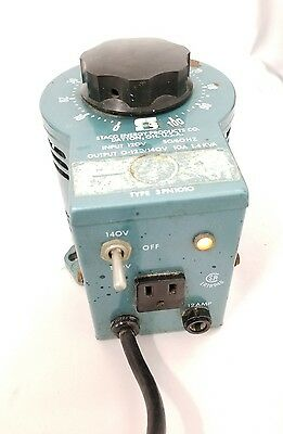 Staco Energy 3PN1010 Variable Autotransformer 120/140V 10A 1.4KVA  USED