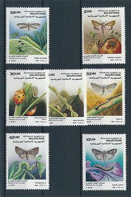 MAURITANIA, SC 647 // 657, 1989 Harmful Insects, part set, see scan. MNH. CV $10
