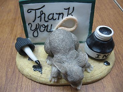 Charming Tails Figurine-Thank You-Mouse
