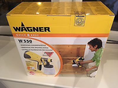 Wagner W-550 HVLP Fine Paint Spray System. NEW SEALED