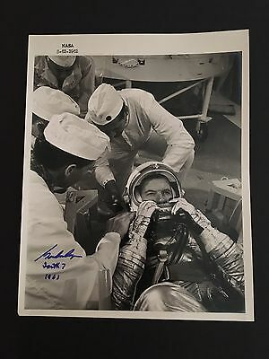 Gordon Cooper Astronaut Signed Official NASA Glossy 8x10 Authentic