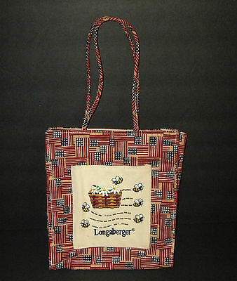 Longaberger Lunch Bag Tote Proudly American Flags Basket Bees