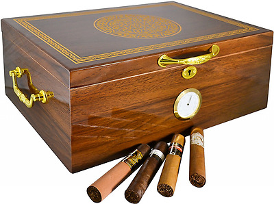 Premium Large 100-150 Cigars La Cubana Cigar Humidor Exclusive Luxury Humidifier