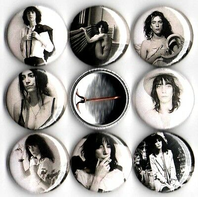 """Patti Smith 8 NEW 1"""" buttons pins badges horses punk cbgb's"""