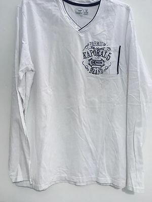 T-Shirt Homme  Kaporal Long Manche  Taille 2Xl -Neuf