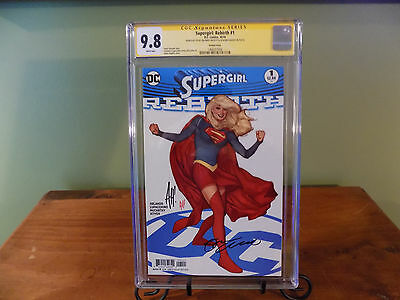 Supergirl Rebirth # 1 CGC 9.8 SS x 2 Adam Hughes Cover signed by Hughes Superman