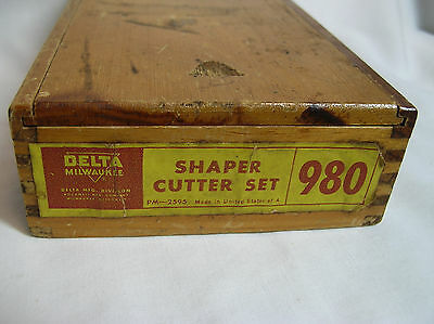 Delta/Milwaukee Shaper cutter set of bits # 980 Set PARTIAL KIT