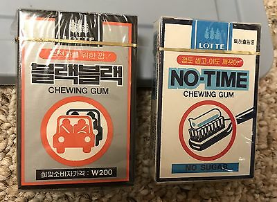 Lotte Chewing Gum Lot Of 2 Unopened Packs